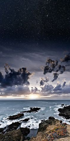 Dreamlike Photo Manipulations of Earth and the Starry Night Sky