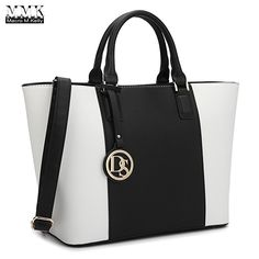 MMK collection Women Fashion Matching Satchel handbags with walle(6417)t~Designer Purse with Wristlet Wallet (6417W-Black/white): Handbags: Amazon.com