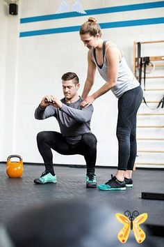 Full length shot of female personal trainer guiding man doing... Female personal trainer guiding man at gym stock photo<br> Full length shot of female personal trainer guiding man doing exercising at gym Personal Trainer Humor, Female Personal Trainer, Personal Gym, Fitness Logo, Yoga Fitness, Jennifer Lopez, Pilates, Gym Trainer, Trainer Fitness