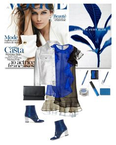 """feeling very blue"" by drn57 ❤ liked on Polyvore featuring moda, Maison Kitsuné y Christopher Kane"
