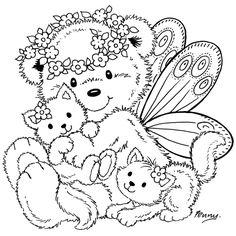 Stampavie-Penny-Johnson-Clear-Stamp-Fairy-Bear-L14270404.jpg (1200×1200)