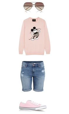 """Untitled #163"" by shaniceforde on Polyvore featuring H&M, Converse, Markus Lupfer and Linda Farrow"