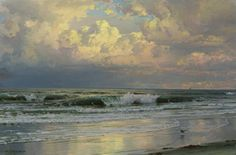 Breaking  waves,1899 William Trost Richards