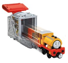 Speedy Launching Bill is part of the Speedy Launching Engines collection. Each item in the collection features a Take-n-Play die-cast train engine with an exciting launching feature! The Bill train en