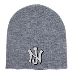 New Jersey NJ Embroidered Knit Beanie