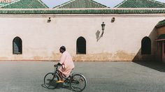 Man on bike. // City Guide to Marrakech from Project Bly and Caitlin Flemming. // #Design #Morocco #Travel