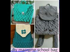 How to make macrame purse # design 15 - YouTube