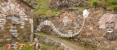 artistic stone wall