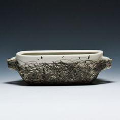 the-clayprofessor:  I really like what Audrey Rosulek does with a glaze pencil. http://www.audreyrosulek.com/rosulek/News.html
