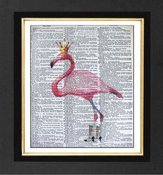 Hey, I found this really awesome Etsy listing at https://www.etsy.com/listing/96312502/pink-flamingo-her-style-original-artwork