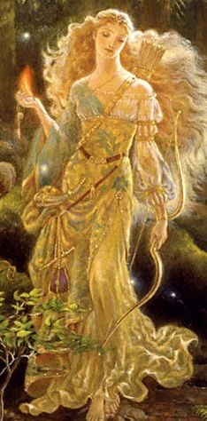 AURORA : goddess of the dawn, renews herself every morning and flies across the sky, announcing the arrival of the sun. Original ; Kinuko Y Craft.