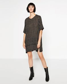 Image 1 of CHECKED FABRIC DRESS from Zara