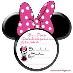 convite aniversario minnie orelhinha para imprimir grátis Decoration Minnie, Minnie Mouse Birthday Decorations, Minnie Birthday, Birthday Diy, Mickey Mouse Toys, Minnie Mouse Pink, Mini Mouse, Mickey And Friends, Holidays And Events