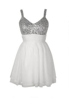 Sleeveless sequin bodice and chiffon skirt party dress with shirred waist detail. Back zipper for better fit. Fully lined. Cute Formal Dresses, Semi Dresses, Grad Dresses, Dresses For Teens, Dance Dresses, Homecoming Dresses, Pretty Dresses, Beautiful Dresses, Bridesmaid Dresses