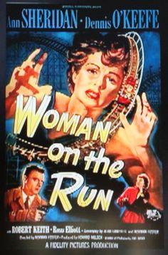 """Woman on the Run""  Film Noir Movie Poster."