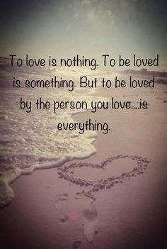 This is just sooo true!!! To know that the one I love, loves me.... The world kinda just stops!!! And yet just makes my world go round!!! I can't describe it, all I know, is that it's the best feeling ever:)