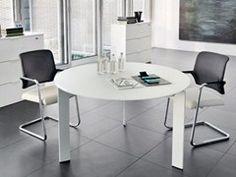 Tavolo da riunione in vetro MEETING   Tavolo da riunione rotondo - Zalf