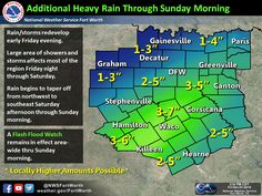 10/23/15 3:30 PM   Life-threatening flash flooding is occuring in Corsicana and in Navarro County as nearly 10 inches of rain has fallen in a matter of hours and its still coming down. Additional heavy thunderstorms are developing in the Big Country and western North Texas. Those storms are moving northeast and will bring a return of heavy rain and an increased flooding threat into parts of North Texas, possibly the D/FW Metroplex, in a few hours. Central Texas will get in th