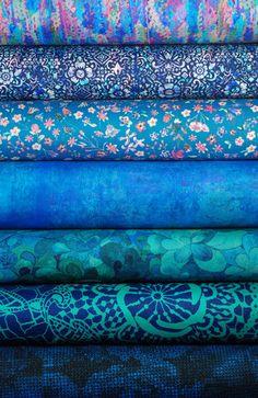Liberty Tana Lawn Bundle: AW15 Green/Blue