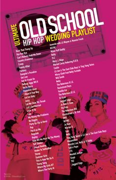 Ultimate Old School Hip Hop Wedding Playlist most requested songs. 90's 2000's music, Tap photo to learn how to freestyle rap in less than 5 minutes #hiphop #rap                                                                                                                                                      More