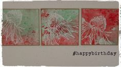 Country View Crafts' Projects : Jennie Atkinson Cracked Pistachio and Abandoned Coral Tim Holtz Flower Garden stamps