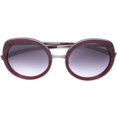 Jil Sander oval sunglasses (653 CAD) ❤ liked on Polyvore featuring accessories, eyewear, sunglasses, red, red sunglasses, jil sander glasses, oval sunglasses, jil sander and jil sander sunglasses