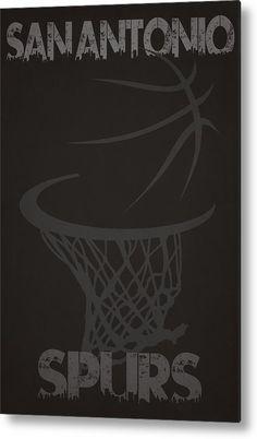 Spurs Metal Print featuring the photograph San Antonio Spurs Hoop by Joe Hamilton