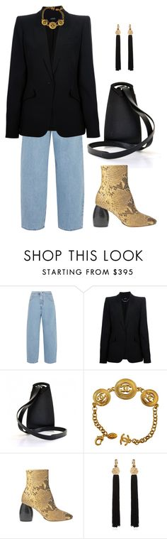 """""""Untitled #867"""" by lucyshenton ❤ liked on Polyvore featuring MM6 Maison Margiela, Alexander McQueen, Louis Vuitton, Dries Van Noten and Yves Saint Laurent"""
