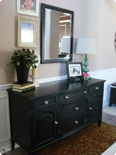 HA! Im doing the same thing, black bedroom suite with crystal handles! Now my partner can see my idea before knocking it.