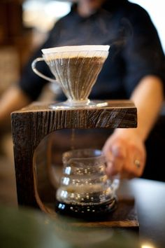 BarnSide Coffee Stand  Dripper Included by 2ndStoryWoodCo on Etsy, $105.00