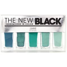 The New Black Original - Ombre Waves Nail Lacquer ($21) ❤ liked on Polyvore featuring beauty products, nail care, nail polish, makeup, beauty, nails, fillers and the new black nail polish