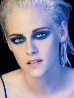 Kristen Stewart goes for a bold eyeshadow look in Chanel's Ombre Premiere Eyes advertising campaign
