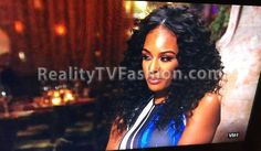 Brandi Maxiell's Blue, White, Black Stripe Top #BBWLA