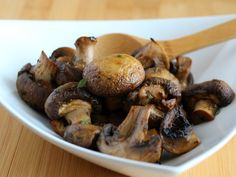 Roasted Mushrooms with Thyme, Dijon and Balsamic | RachelCooks.com
