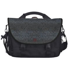 Laptop Bag Black Gray grey Leather Look