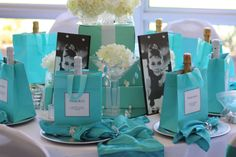 Breakfast at Tiffany's Favors   breakfast at tiffany s was fairly simple to construct wrapping paper ...