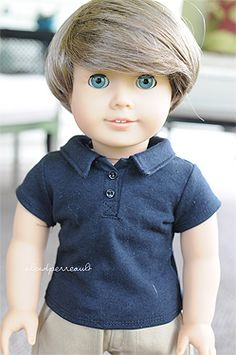 Rob is a customized Truly Me with aquamarine eyes and a Monique Bebe Wig. American Boy Doll, American Doll Clothes, Ag Dolls, Girl Dolls, Boy Doll Clothes, Doll Outfits, Clothes Pictures, Doll Crafts, Doll Stuff