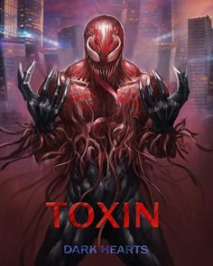 Toxin, son of the Carnage Symbiote, & grandson of the Venom Symbiote. Venom Spiderman, Marvel Venom, Marvel Villains, Spiderman Art, Amazing Spiderman, Marvel Heroes, Marvel Avengers, Venom Comics, Marvel Comics Art