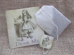 These Alice in Wonderland teabag weddings favours make a lovely & unique addition to any wedding. Also suitable for bridal showers or any other tea party. The price shown is for a set of three, one of each design. Available in 4 different tea types, howver if you have a particular