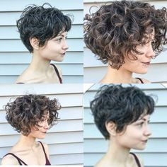 "2,617 mentions J'aime, 30 commentaires - Short Hairstyles   Pixie Cut (@nothingbutpixies) sur Instagram : ""Just two great curly cuts by @tatumneill on  @chloe_lyn"""