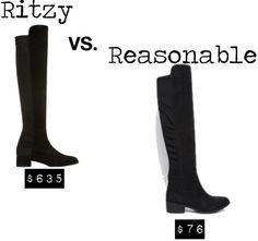 knee high boots- Ritzy vs. Reasonable