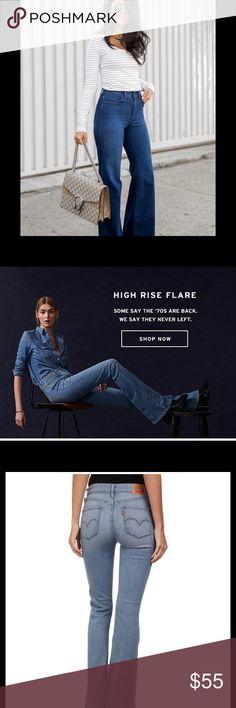 🖤 LEVI STRAUSS HIGH RISE FLARE NWT SZ 24 🖤 NWT Levi Strauss & Co. Original Riveted High Rise Flare Slim Through Hip and Thigh             SZ 24 x 32...92% Cotton...6% Elastomutiester...2% Elastane Levi Strauss & Co Jeans Flare & Wide Leg