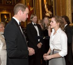 Prince William, Duke of Cambridge (L) and Emma Watson attend a dinner to celebrate the work of The Royal Marsden hosted by the Duke of Cambridge, 13.05.14 in Windsor, England.