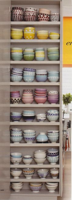yes, please: colorful cupboard of eclectic bowls