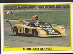Panini Super Auto 1977 Sticker - No 43 - Alpine A442 Renault | eBay