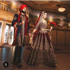 My BIG Punjabi Wedding — If this isn't I don't know what is Indian Bridal Outfits, Indian Bridal Wear, Asian Bridal, Pakistani Bridal, Indian Dresses, Bridal Dresses, Indian Saris, Indian Wedding Hair, Indian Wedding Dresses