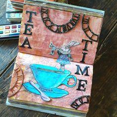 Tea time dans mon art journal  Alice au pays des merveilles