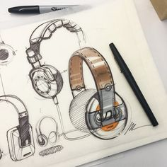 Headphone doodles #sketcheveryday #sketchaday #sketching #sketch #idsketching #ideation #warmup #designsketching #design #doodle #drawing  Materials #tracingpaper #sharpie #papermate flair