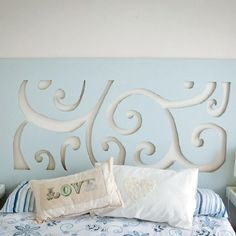 Make your own stylish and budget-friendly headboard with a few simple items.