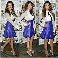 #ninadobrev #iansomerhalder #thevampirediaries #damonsalvatore #paulwesley #vampire #skirt #gorgeous #breakup #nikkireed #twilight #purple #fashion #style #celebritylook #celebrity #lookbooknu #peterpancollar #stefansalvatore #dating #werewolf #chic #chanel #lv #stylish #lookbook #ootd #outfit... - Celebrity Fashion